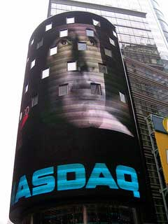 Photo of NASDAQ sign in New York City by broc7